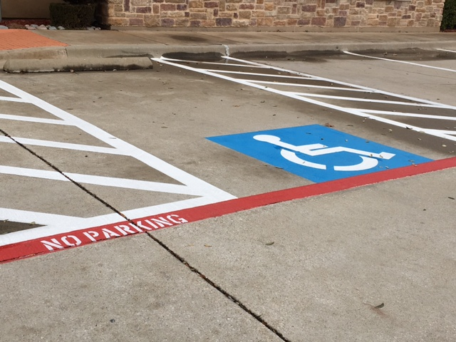 handicap striping